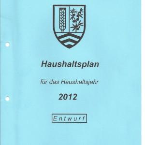 Haushaltsentwurf 2012