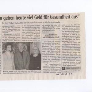 Das Haller Kreisblatt berichtete